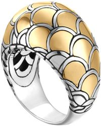 John Hardy Naga Gold Silver Dome Ring - Lyst