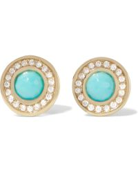 Ippolita - Lollipop 18-karat Gold, Turquoise And Diamond Earrings - Lyst