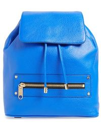 Milly Women'S 'Astor' Leather Backpack - Blue - Lyst