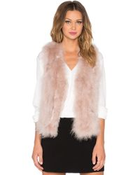 Elliatt   Culture Rabbit Fur Vest   Lyst