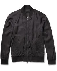 Marc By Marc Jacobs Bruce Washed-Satin Bomber Jacket - Lyst