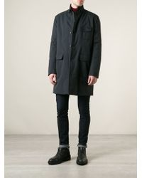 Gucci High Standing Collar Trench Coat - Lyst