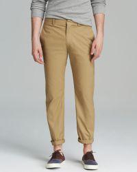 Theory Jake Bemison Khaki Trousers - Natural