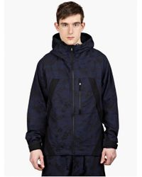 Y-3 Men'S Black Jacquard Hooded Jacket blue - Lyst