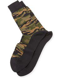 Paul Smith Green Camo-print Socks - Lyst