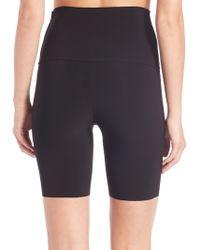 Norma Kamali Bonded Raw-edge Shorts - Black