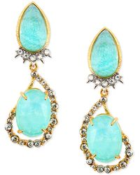Alexis Bittar Gilded Muse Dore Pearoval Clip-on Earrings - Lyst