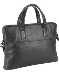 Tumi Branch Slim Black Leather Bag - Lyst