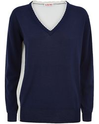 See By Chloé Petal Trim Two Tone Sweater - Lyst