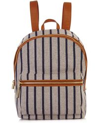 Elizabeth and James - Cynnie Striped Woven Backpack - Lyst