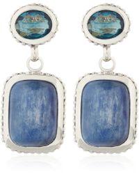 Stephen Dweck - Silver Blue Topaz Kyanite Drop Earrings - Lyst