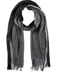 Issey Miyake Striped Pleated Scarf - Lyst
