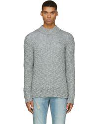 McQ by Alexander McQueen Grey Twist_knit Sweater - Lyst