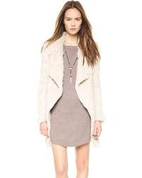 June - Knit Fur Coat - Black - Lyst