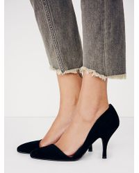 Free People Black Meridian Heel - Lyst