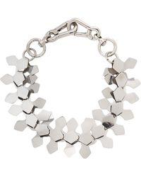 Moxham - Kline Silver Tone Laser-cut Necklace - Lyst