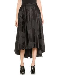 Alice + Olivia Alice  Olivia Tenty Box Pleat Skirt - Black - Lyst