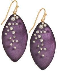 Alexis Bittar Medium Crystaldust Lucite Leaflet Earrings Made To Order - Lyst