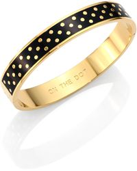 Kate Spade On The Dot Enamel Idiom Bangle Bracelet - Lyst