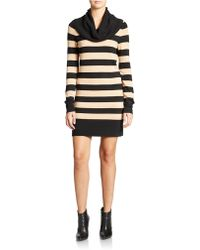 French Connection Stripe Cowlneck Tunic - Lyst