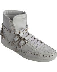 Saint Laurent Studded Buckle Strap Sl/08H High-Top Sneaker - Lyst