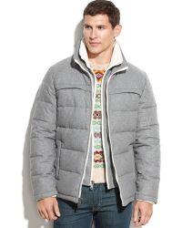 Guess Wool-Blend Puffer Coat - Lyst