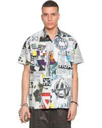 KTZ 'newspaper' Print Shirt - Multicolour
