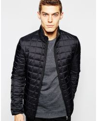 Brixtol Jacket With Square Quilting - Black