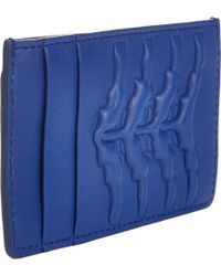Alexander McQueen Ribcage Credit Card Holder - Lyst