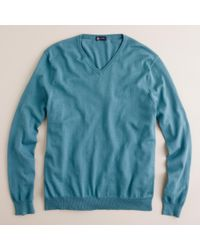 J.Crew Cotton-Cashmere V-Neck Sweater - Lyst