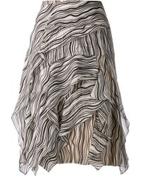 Chloé Wave Print Skirt - Lyst