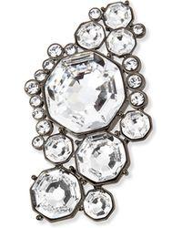St. John - Crystal Octagon Brooch - Lyst