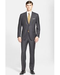 Canali Classic Fit Wool Suit gray - Lyst