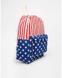 American Apparel American Flag Backpack red - Lyst