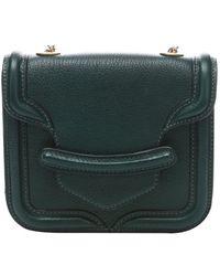 Alexander McQueen Green Leather 'Heroine' Mini Satchel - Lyst