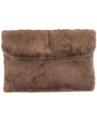 Pixie Market Teddy Bear Faux Fur Clutch - Lyst