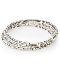 John Hardy Bedeg Sterling Silver Bracelet Set - Lyst