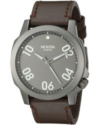 Nixon The Ranger 45 Leather brown - Lyst