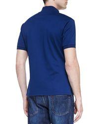 Alexander McQueen Pique Logo Polo Cobalt Blue - Lyst