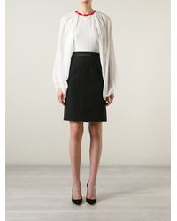 Giambattista Valli Draped Sleeve Blouse - Lyst
