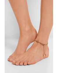 Chloé Carly Gold-Tone Anklet - Lyst