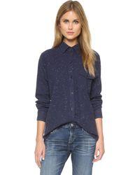 Earnest Sewn - Boy Shirt - Navy Spec - Lyst