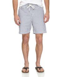 Tailor Vintage Seersucker Swim Shorts - Lyst