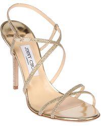 Jimmy Choo 100Mm Issey Glitter Sandals - Lyst