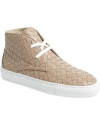 Boemos - Woven Leather Sneaker - Lyst