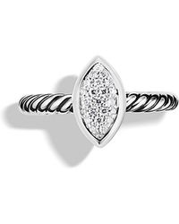 David Yurman Cable Collectibles Ring With Diamonds - Lyst