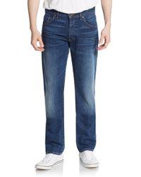 Raleigh Denim Jones Thin Straight-Leg Jeans - Lyst
