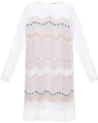 Issa Rosemary Embellished Wave-Lace Dress - Lyst