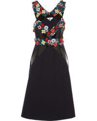 Holly Fulton - Embellished Silk Halter Dress - Lyst