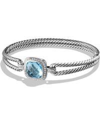 David Yurman Albion Bracelet With Diamonds silver - Lyst
